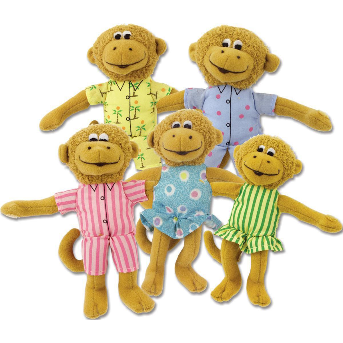 Five Little Monkeys Plush Set
