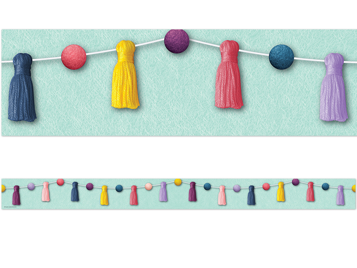 Oh Happy Days! Pom-Poms and Tassels Border Trimmer