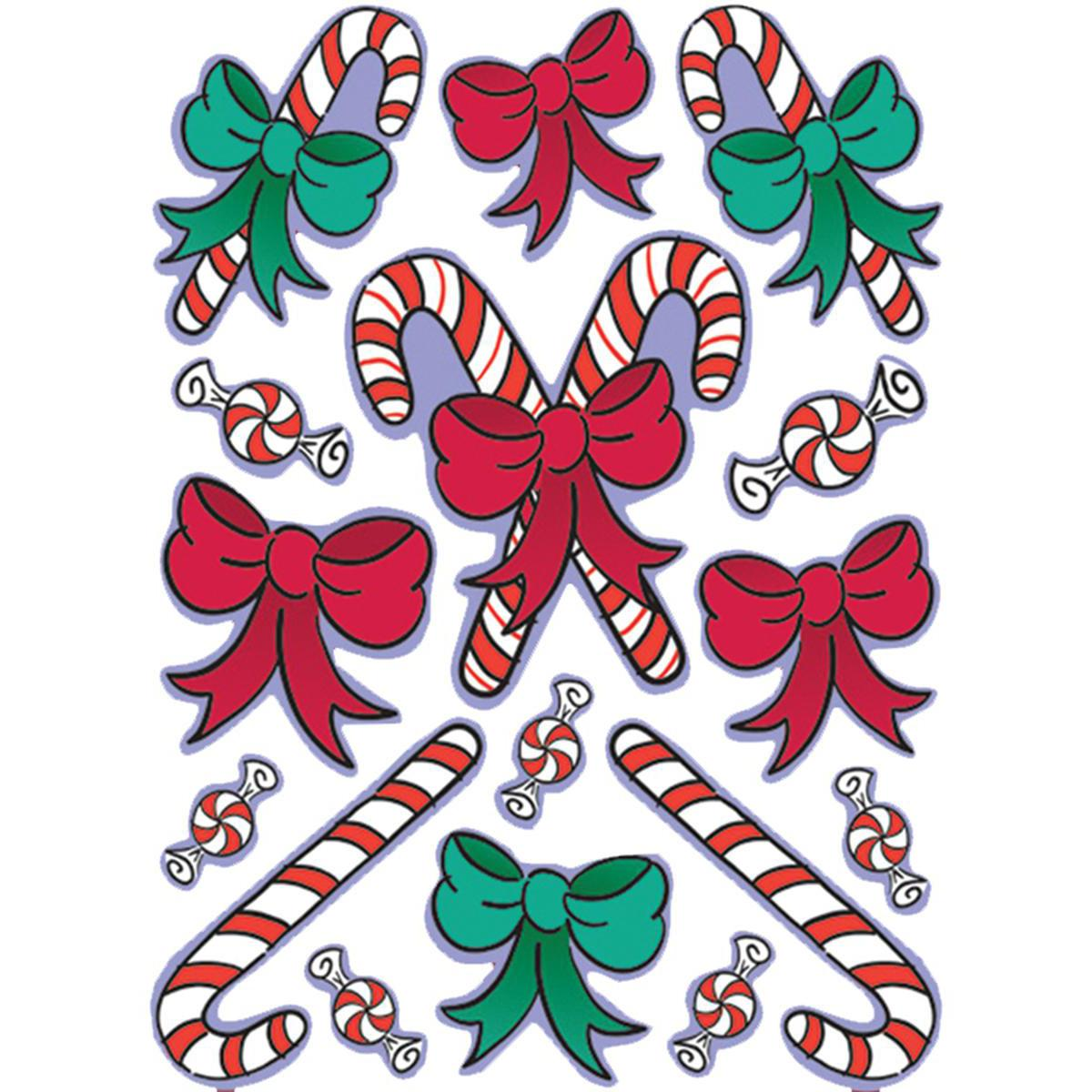Window Clings: Candy Canes
