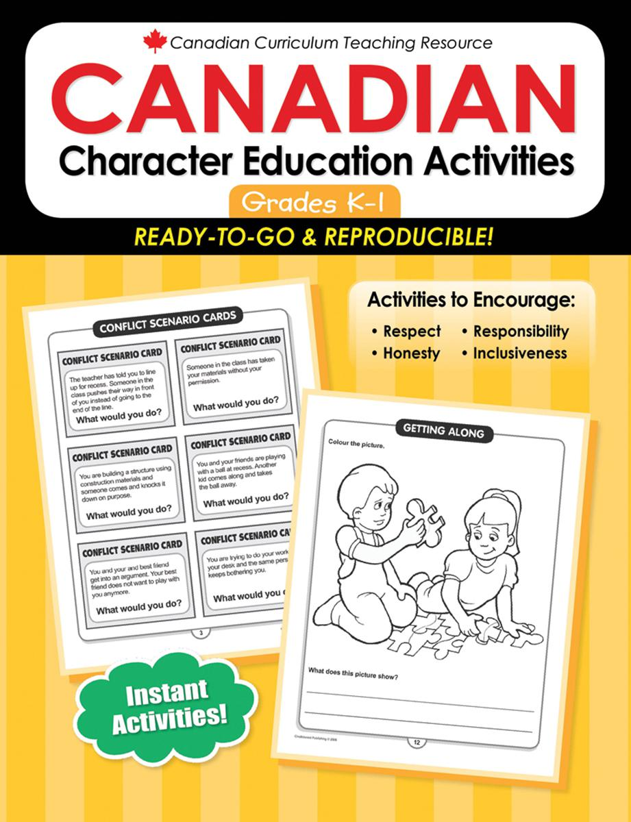 Canadian Character Education Activities Gr. K-1