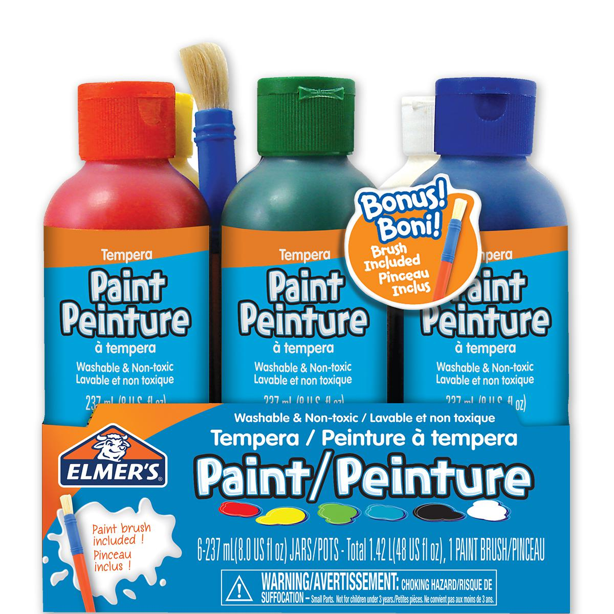 Elmer's Washable Tempra Paint 6-Pack