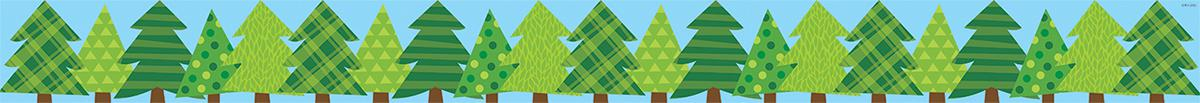 Patterned Pine Trees