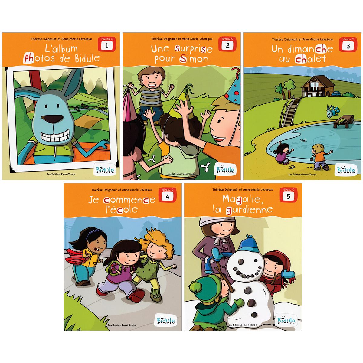 Livrets Bidule : niveau C, livres 1 à 5