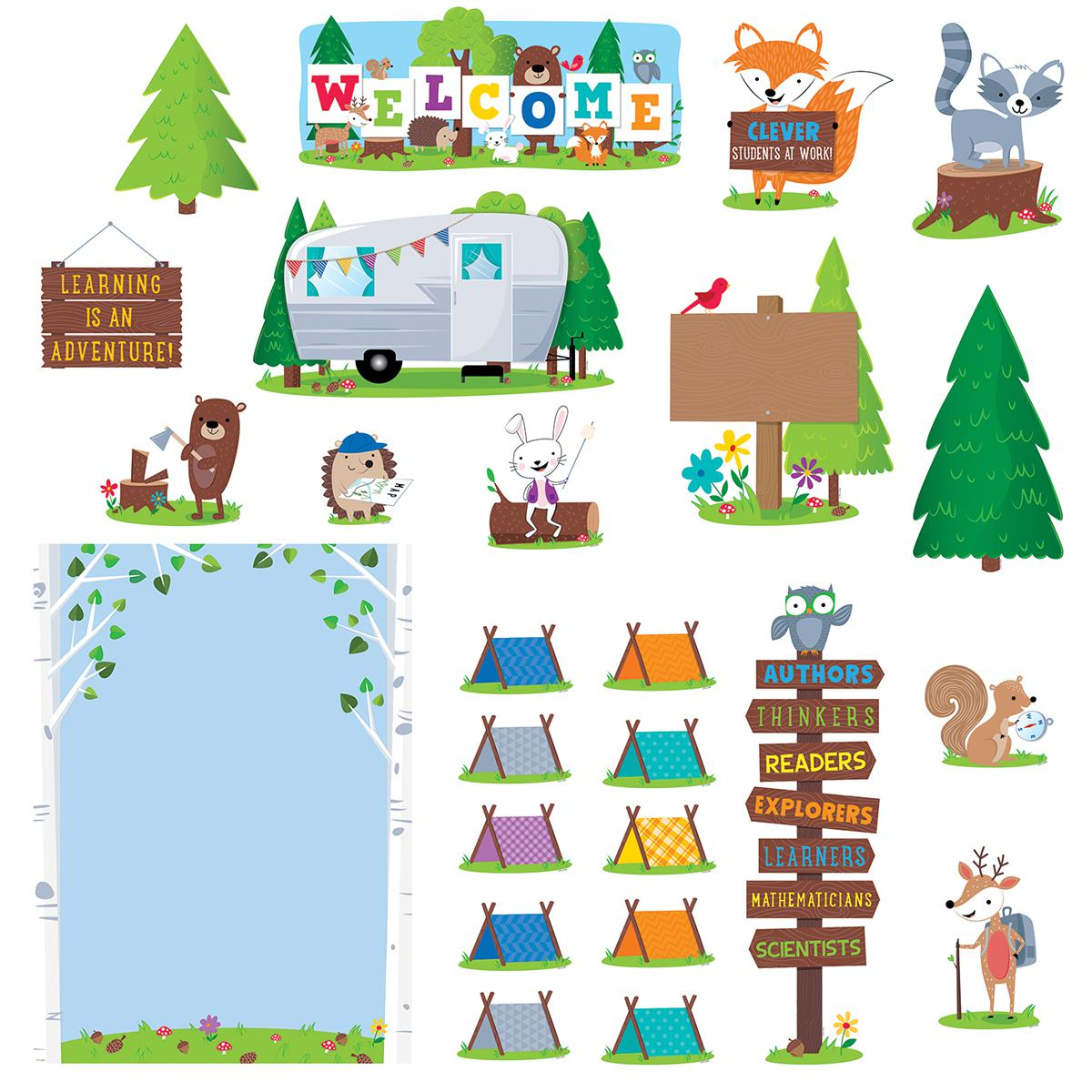 Woodland Friends Welcome Bulletin Board Set