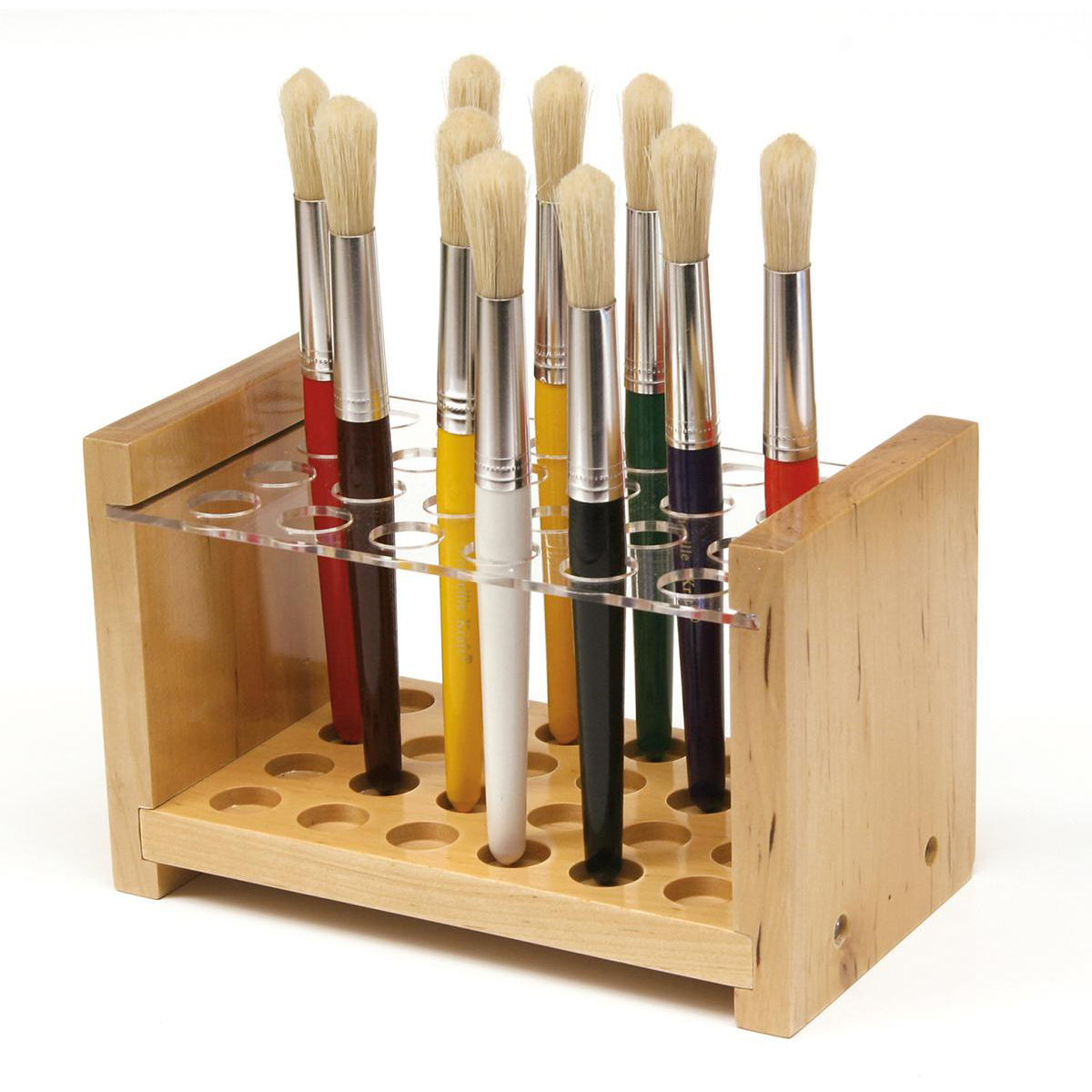 Wooden Paint Brush Holder