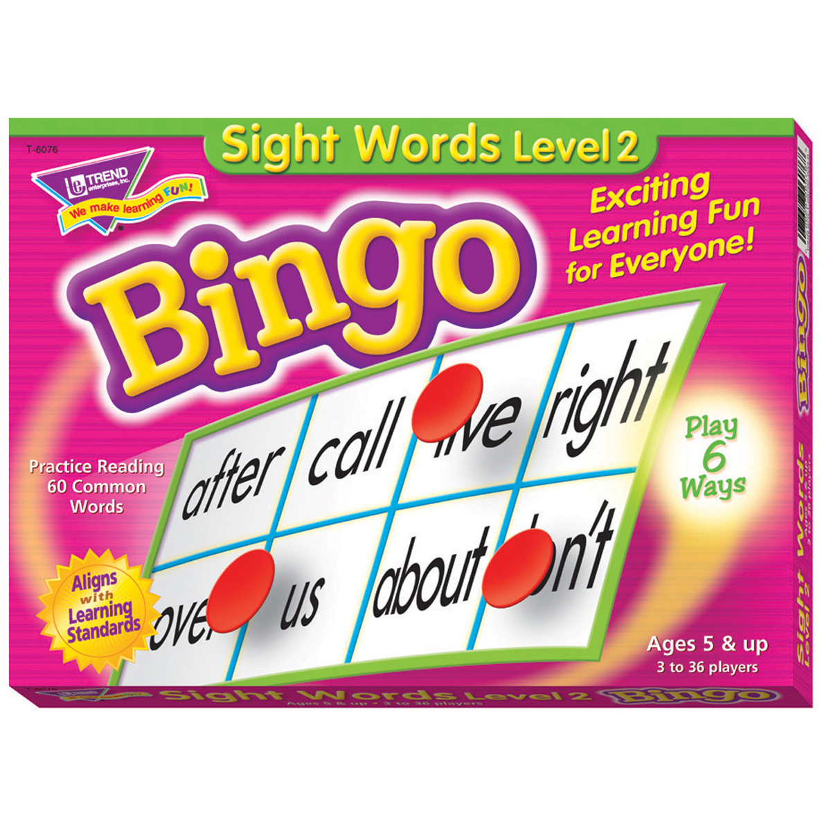 Sight Words Bingo Level 2