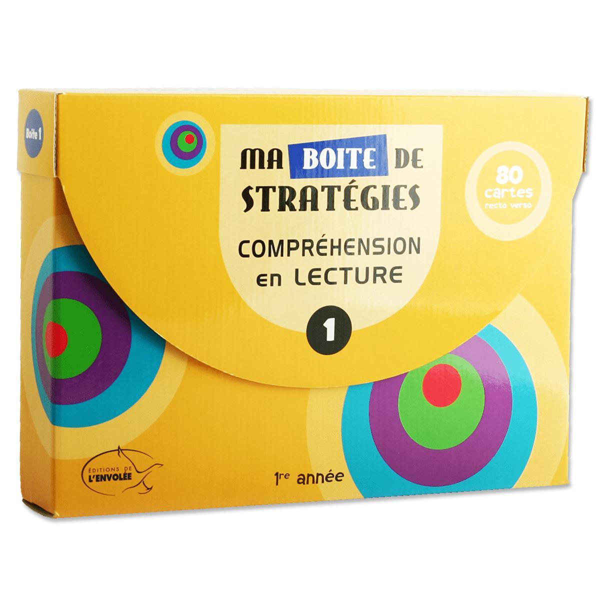 Ma boîte de stratégies : Compréhension en lecture 1