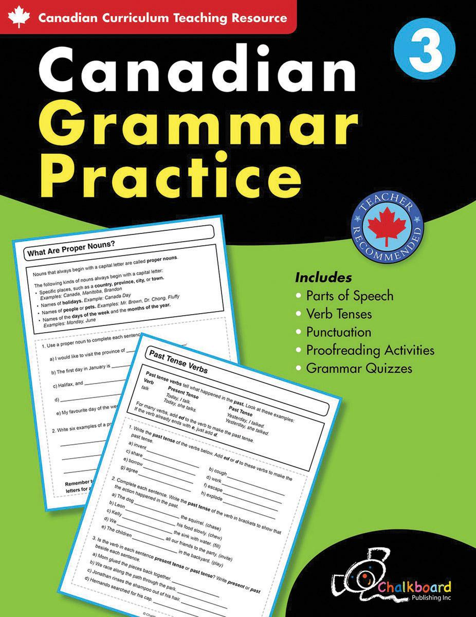 Canadian Grammar Practice Grade 3