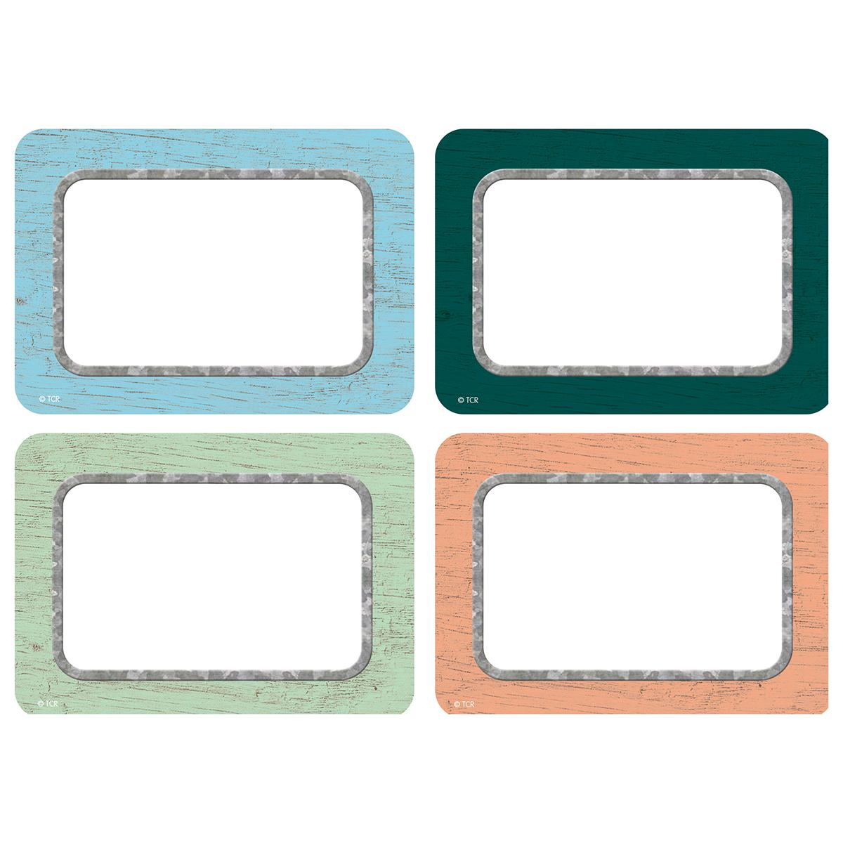 Painted Wood Name Tags/Labels Multi-Pack