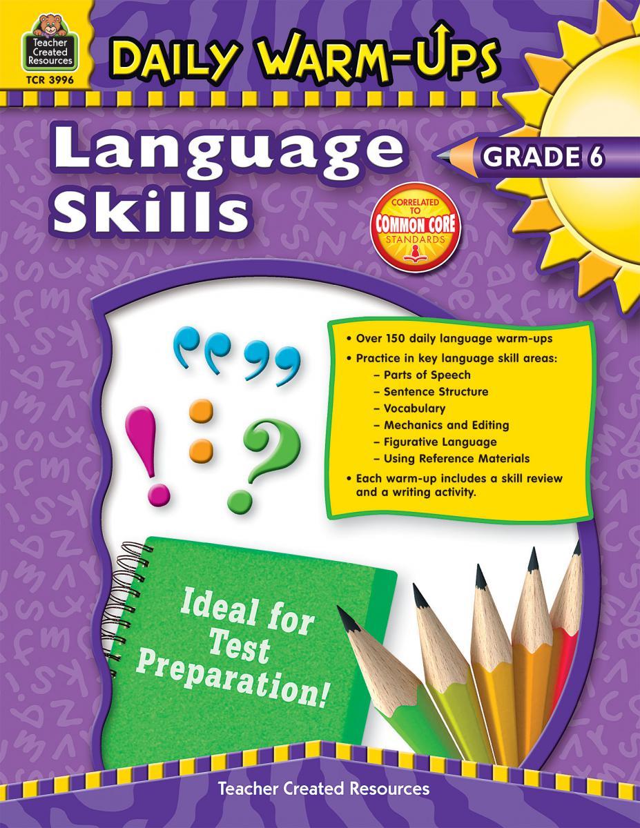Daily Warm-Ups Language Skills Gr 6