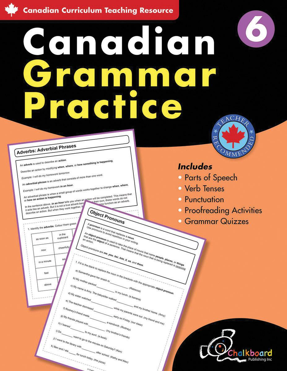 Canadian Grammar Practice Grade 6