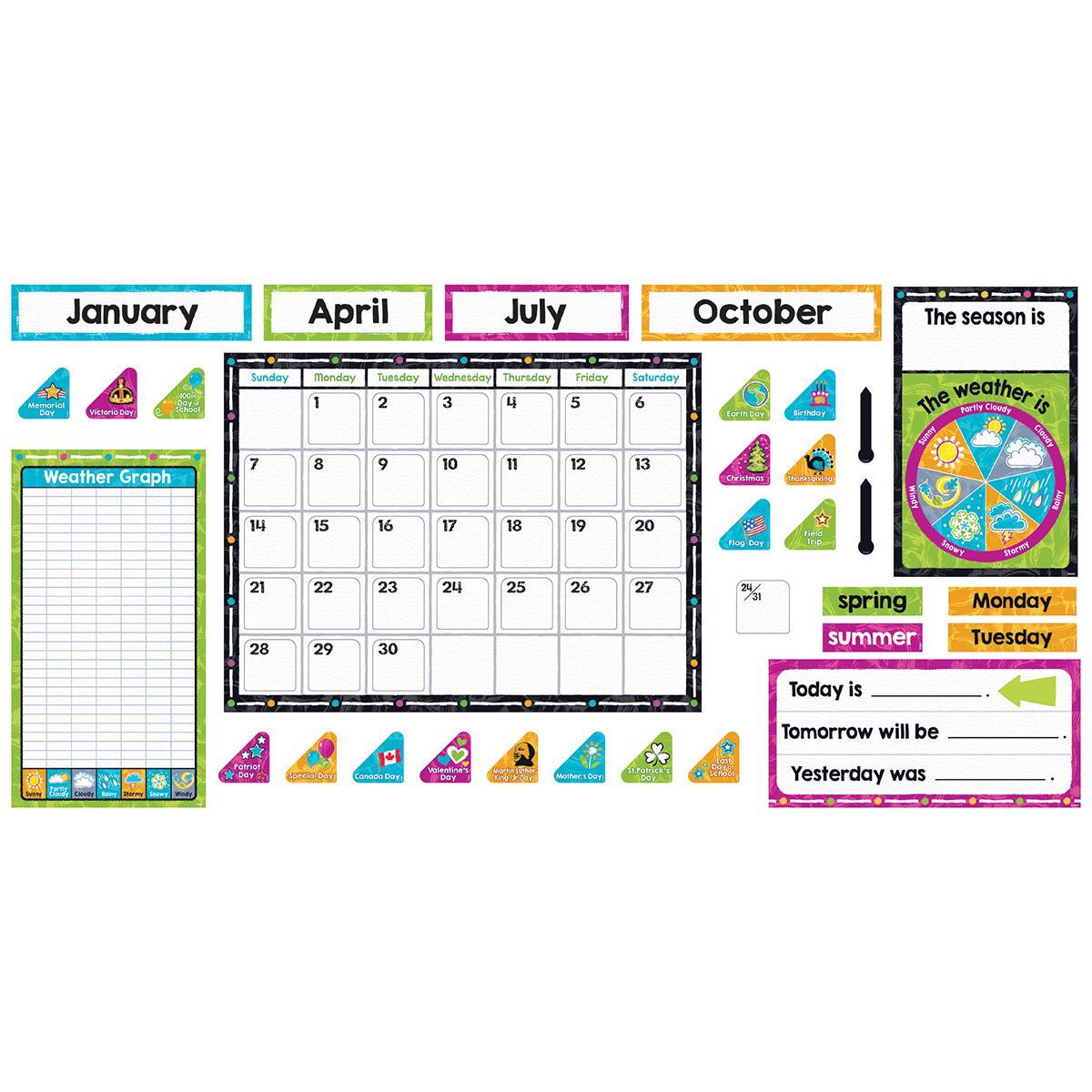 Colour Harmony Calendar Bulletin Board Set