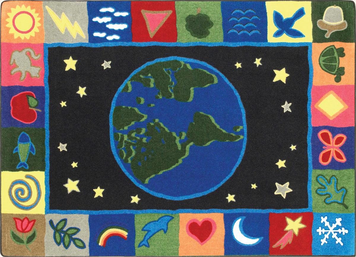 Tapis La Terre, notre planète