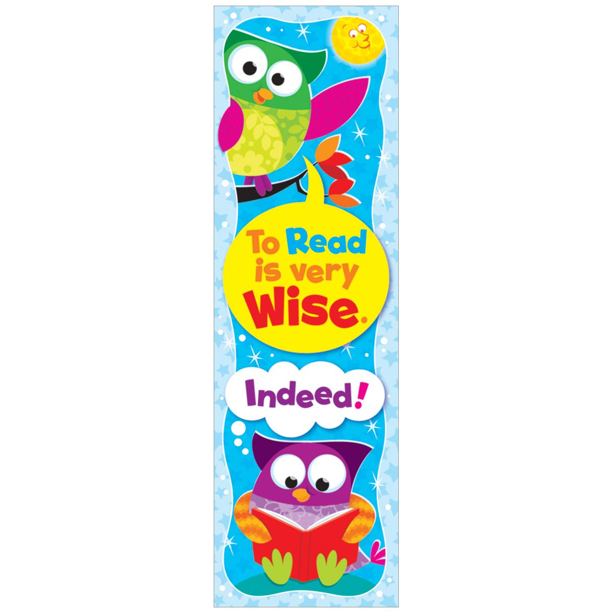 To Read is Very Wise: Owl-Stars Bookmarks