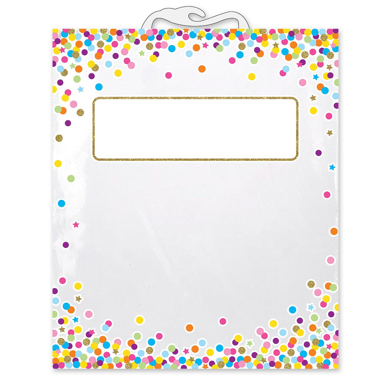 Confetti Book Storage Bags 6-Pack