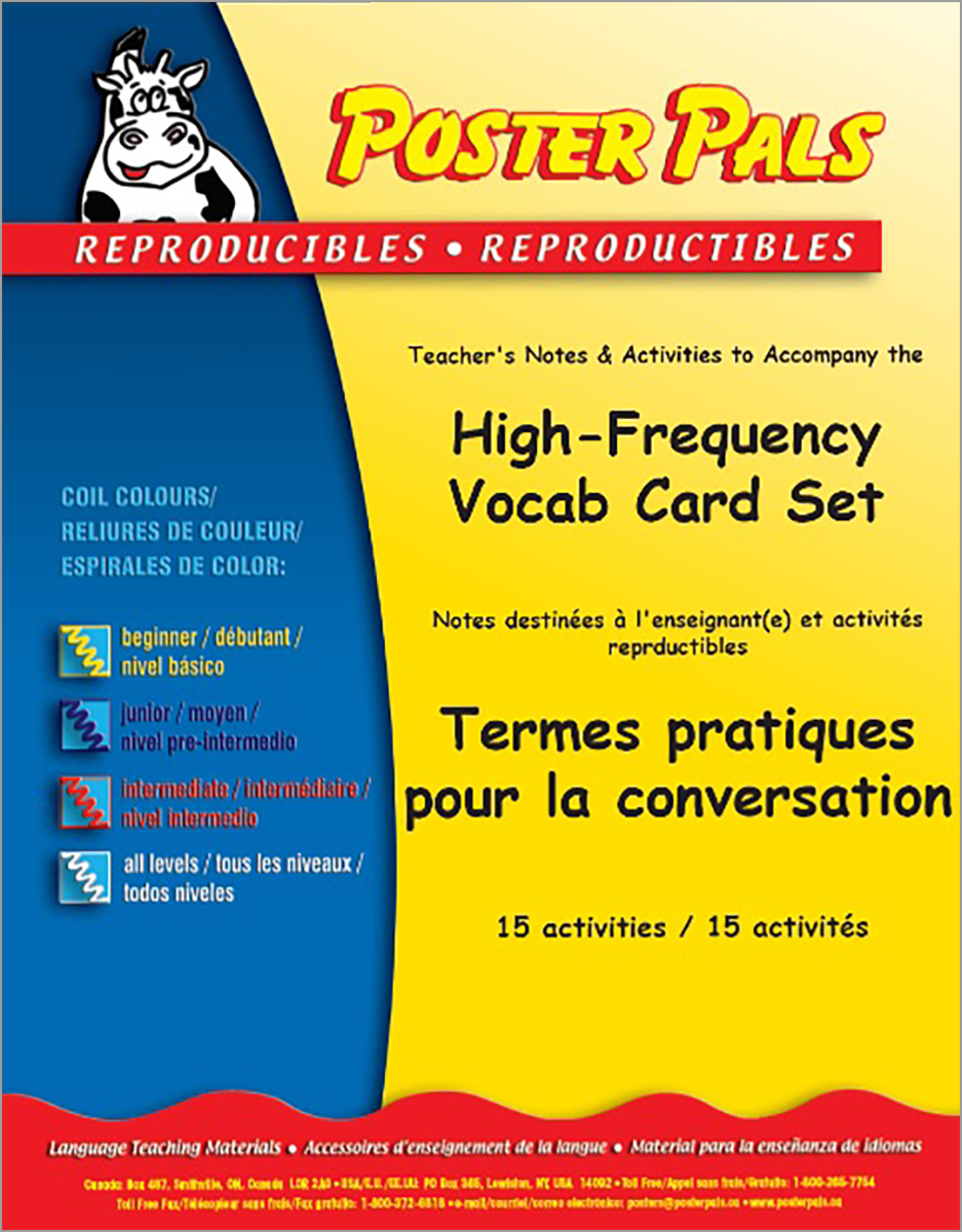 High-Frequency French Vocabulary Card Set