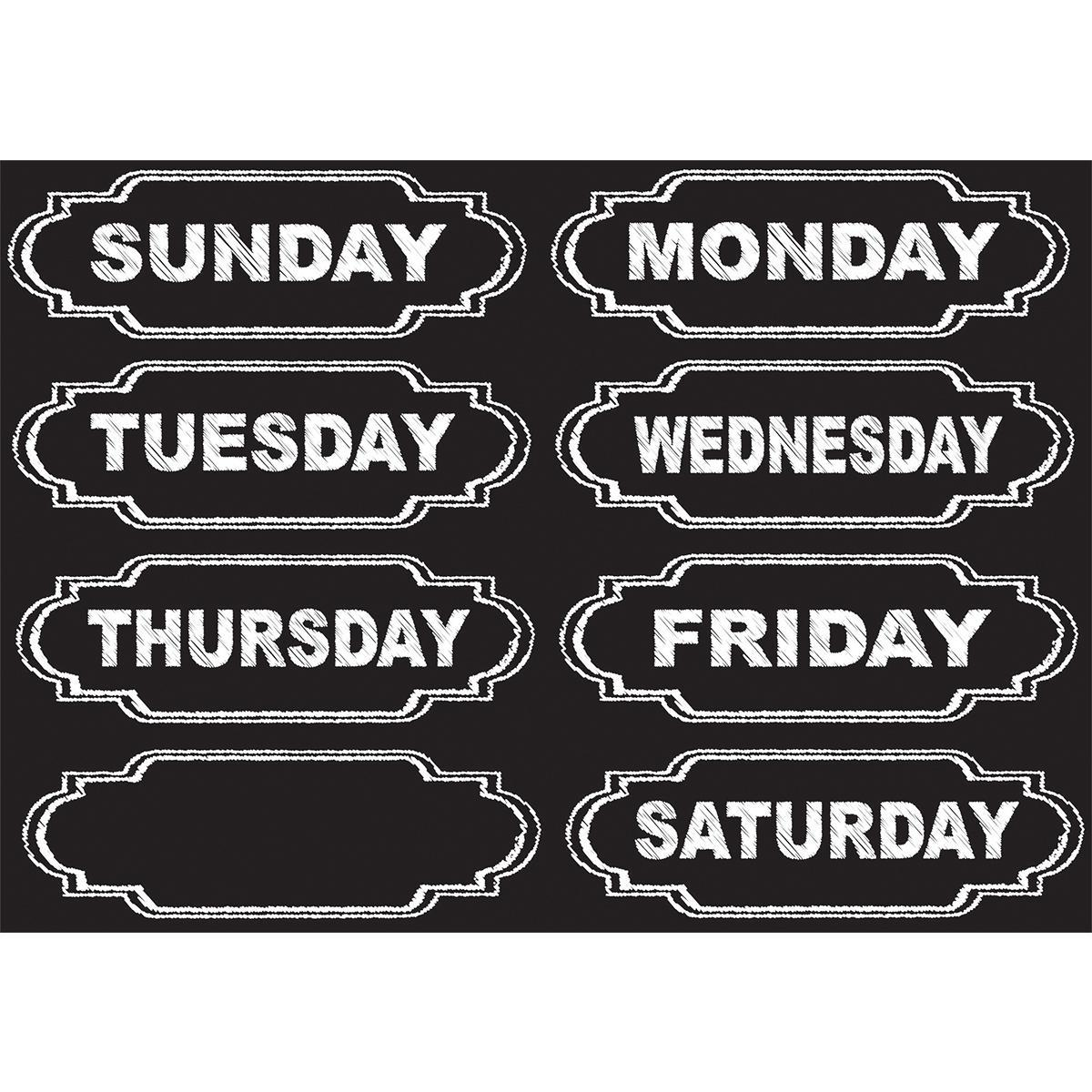 Magnetic Chalk Days of the Week