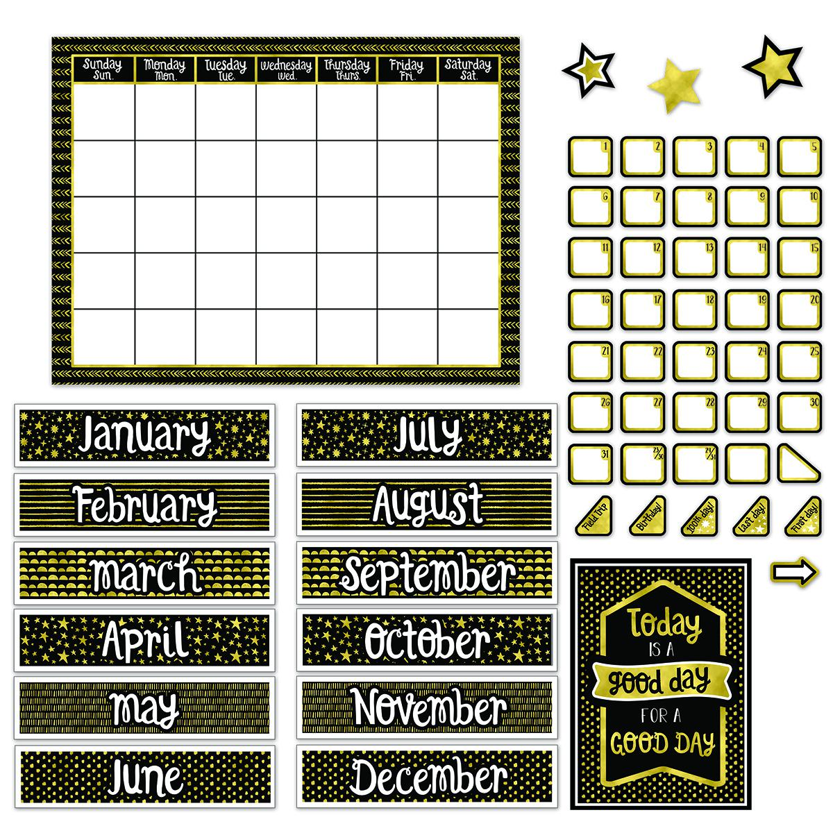 Sparkle & Shine Calendar Bulletin Board Set