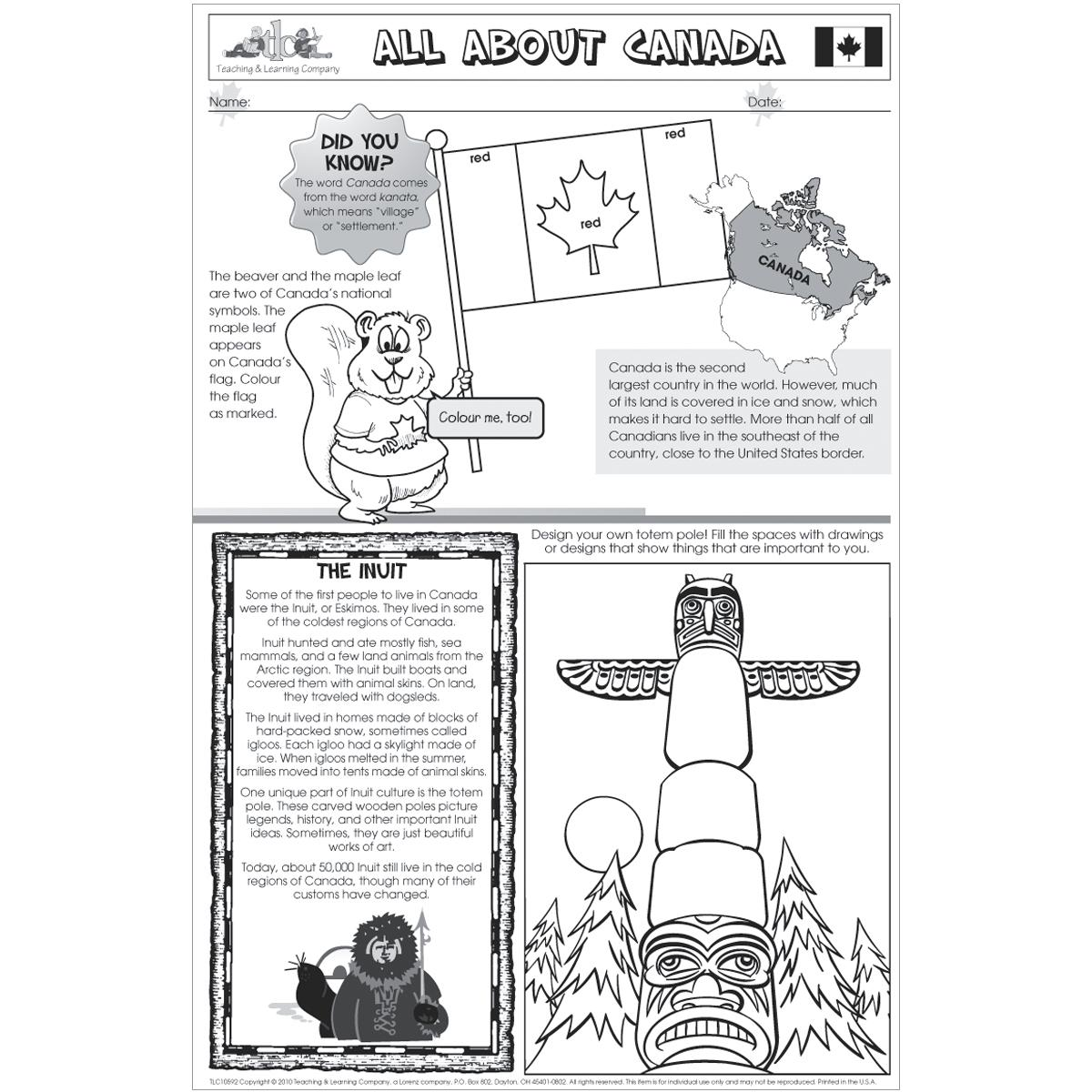 All About Canada Poster Papers
