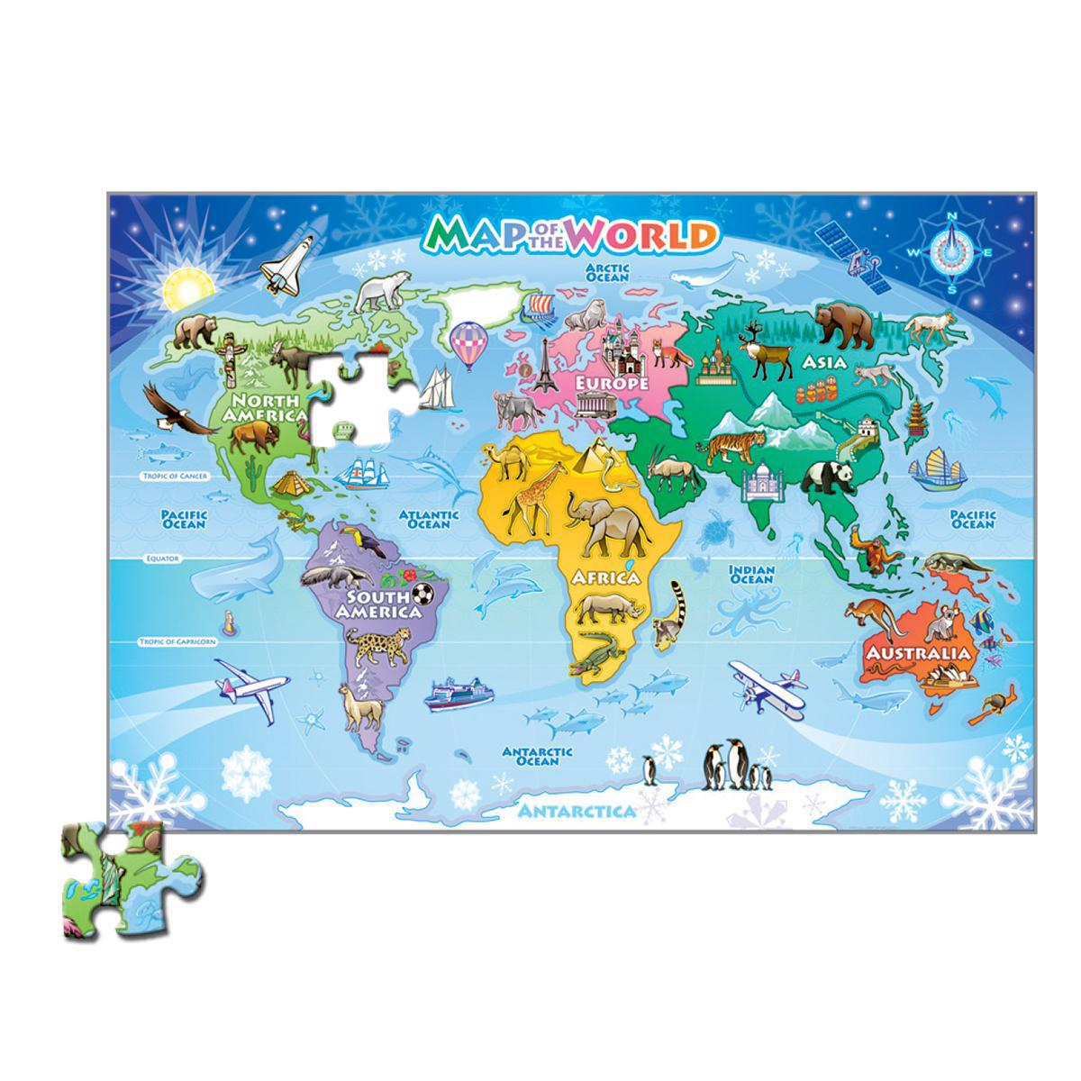 Map of the World Floor Puzzle