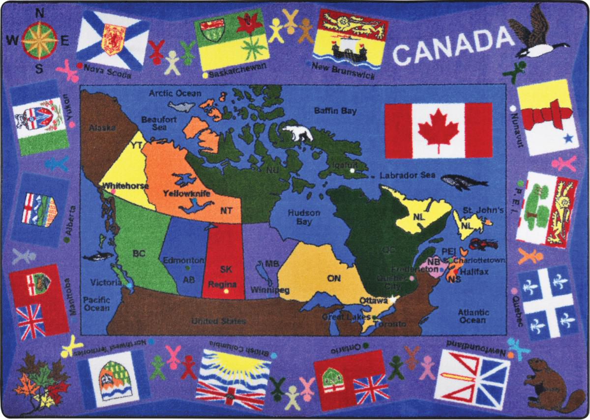Flags of Canada Carpet