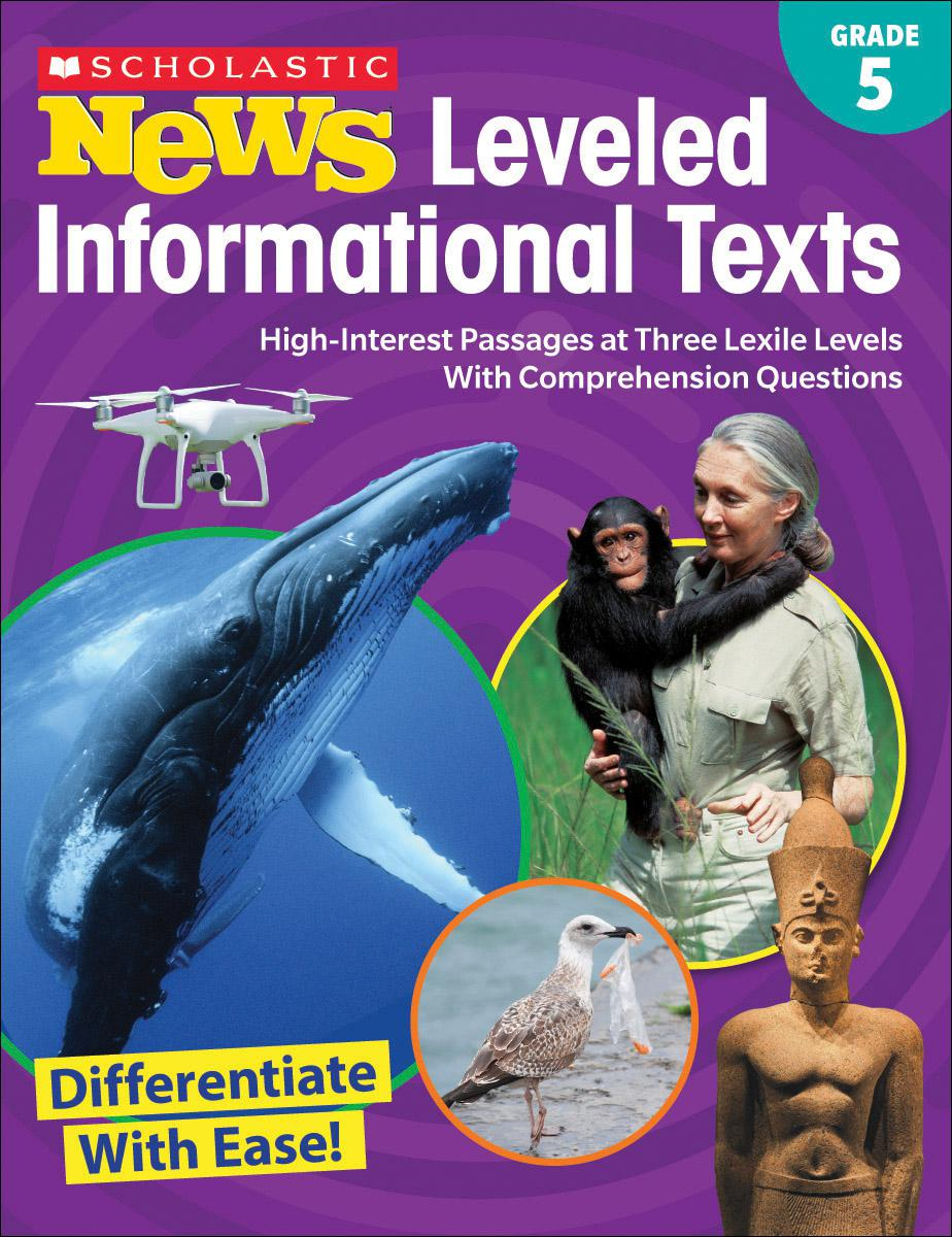Scholastic News Leveled Informational Texts Grade 5