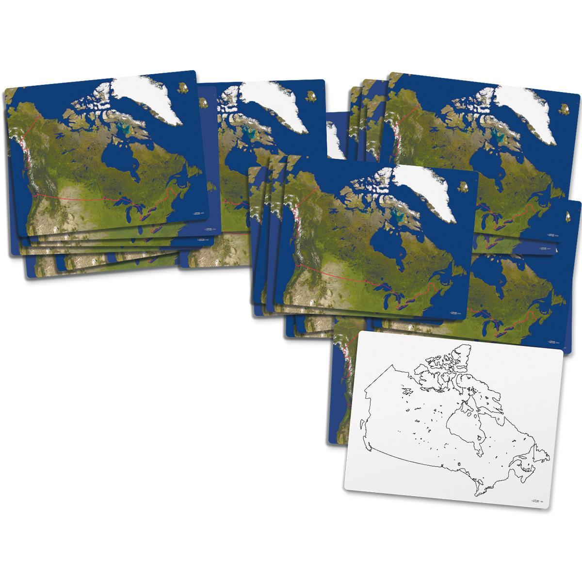 Cartes du Canada effaçables à sec