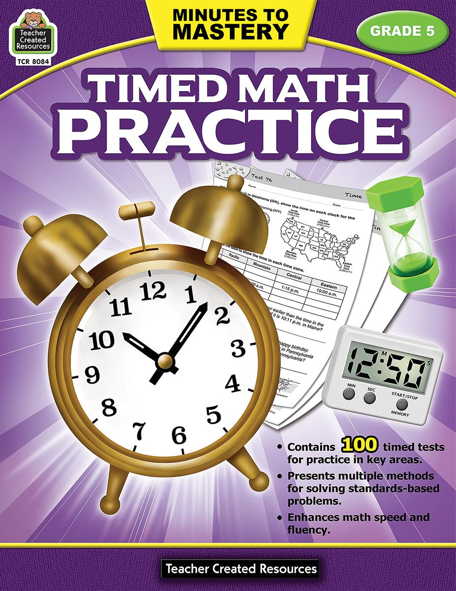 Minutes to Mastery: Timed Math Practice: Gr 5
