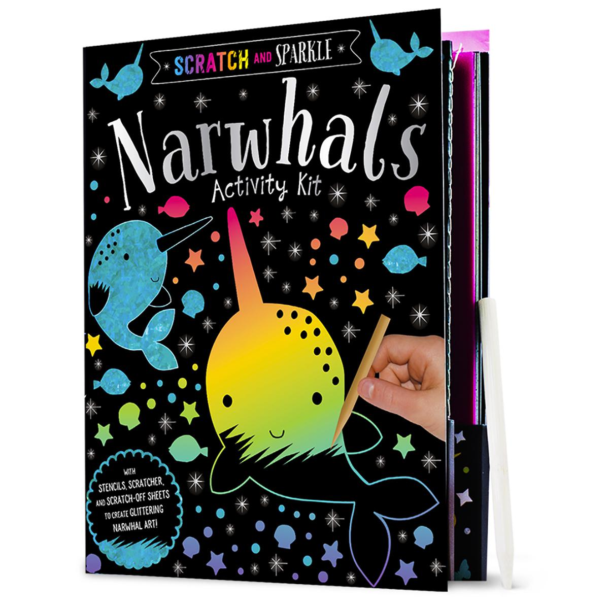 Scratch and Sparkle: Narwhals Activity Kit