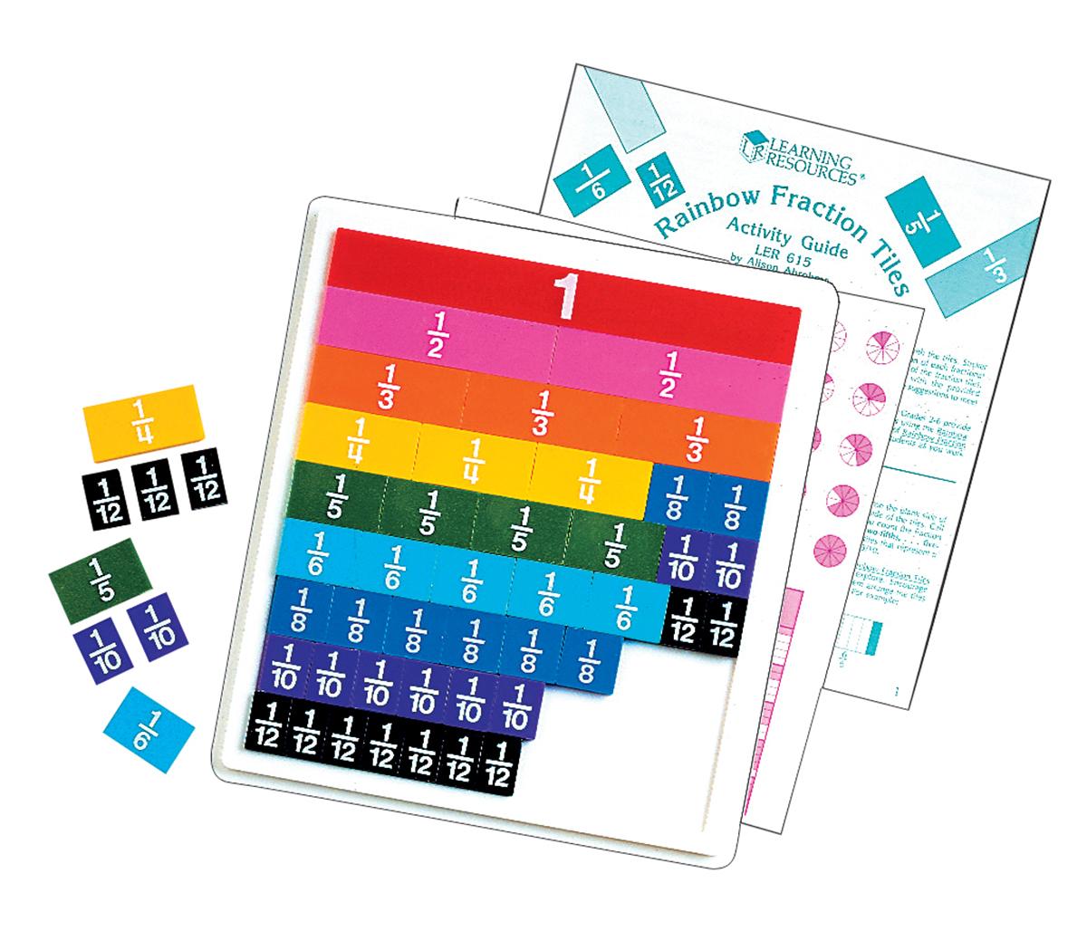 Plateau de tuiles de fractions
