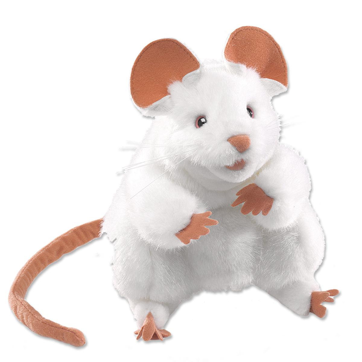 Story Time White Mouse Puppet