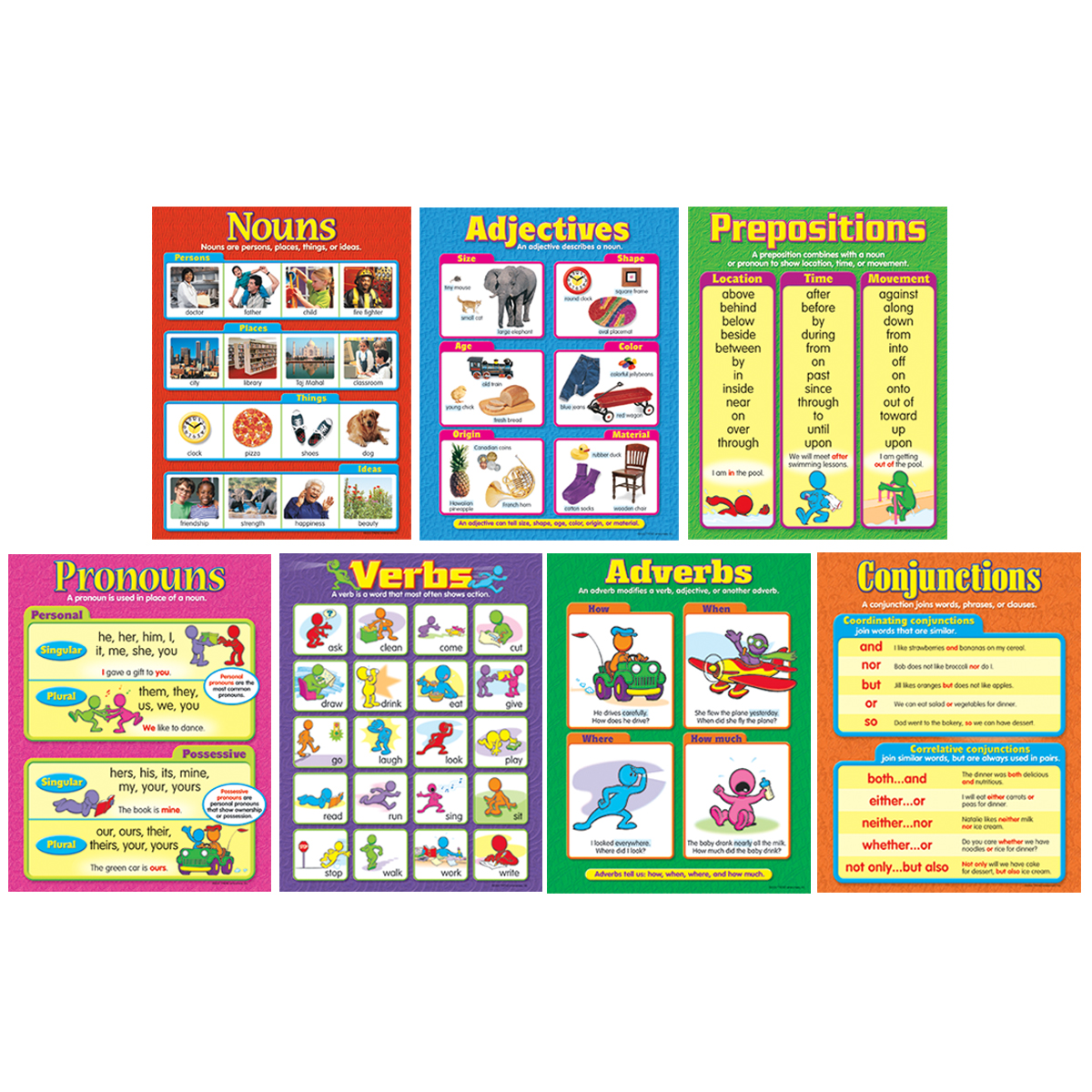 Seven Parts of Speech Charts 7-Pack
