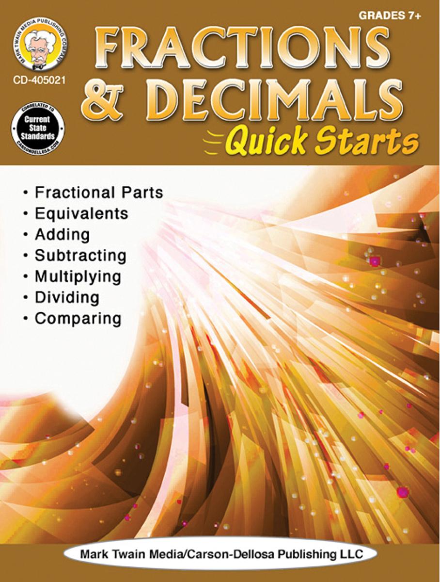 Fractions & Decimals Quick Starts Math