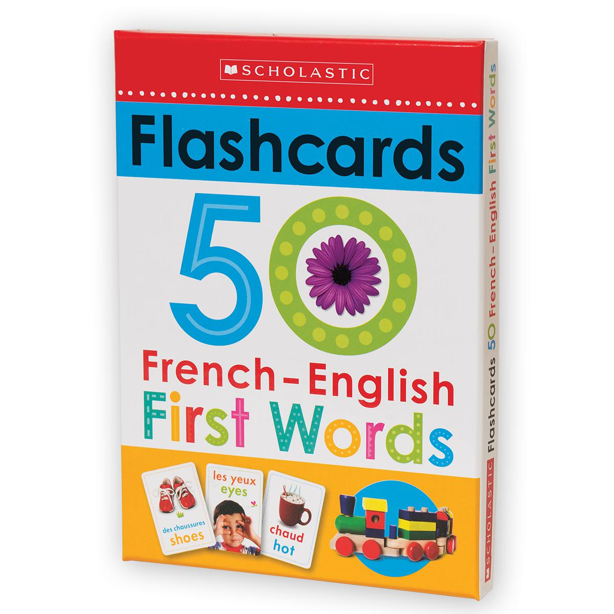 Scholastic: Flashcards: 50 French-English First Words