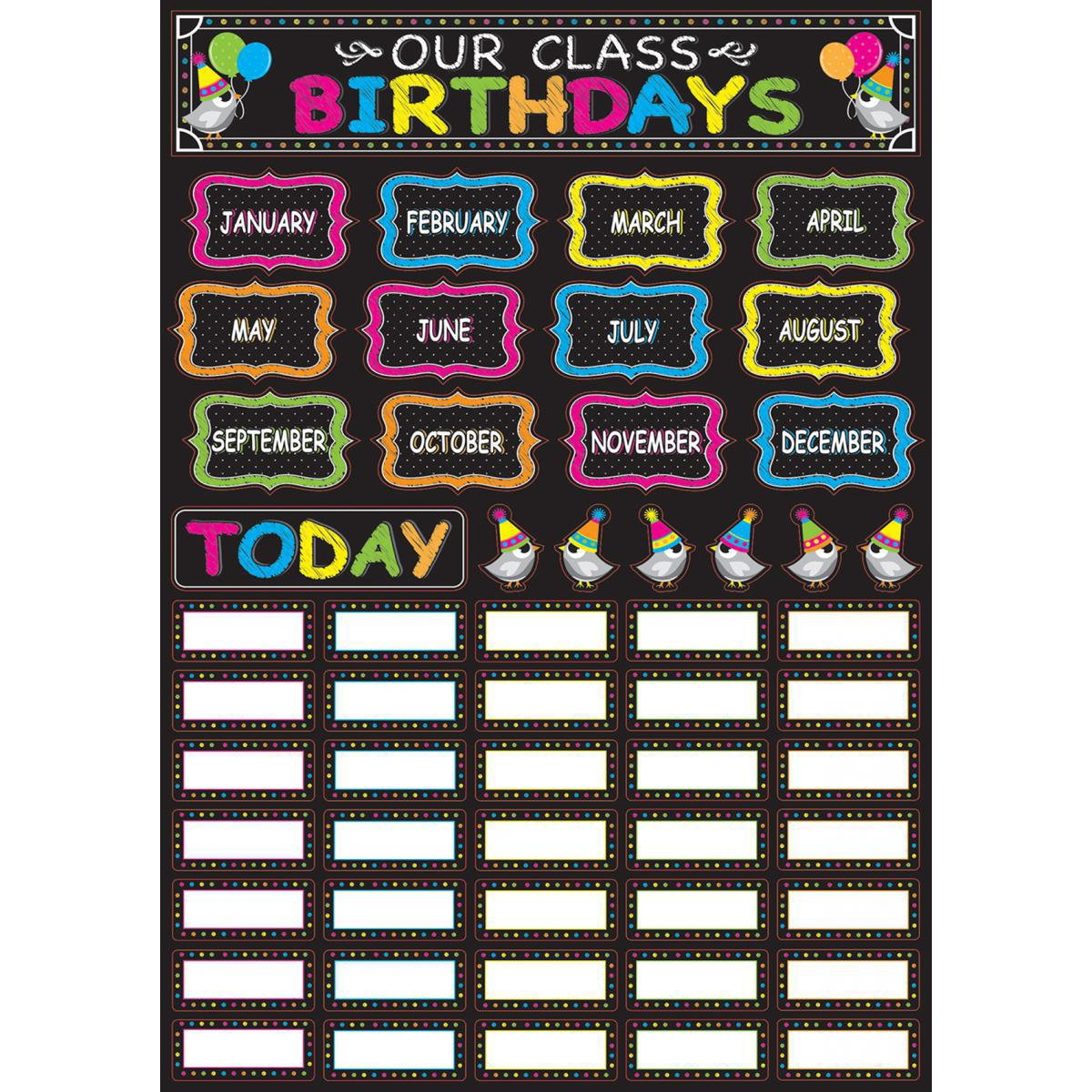 Magnetic Our Class Birthdays Set