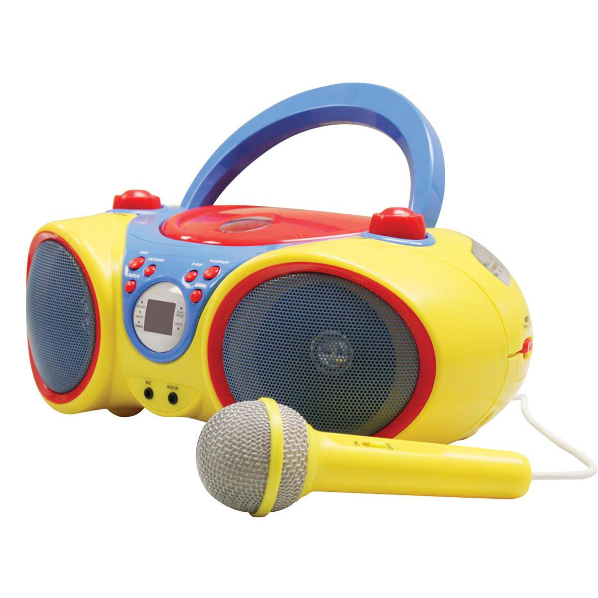 Kid's Audio CD Player Karaoke Machine with Microphone