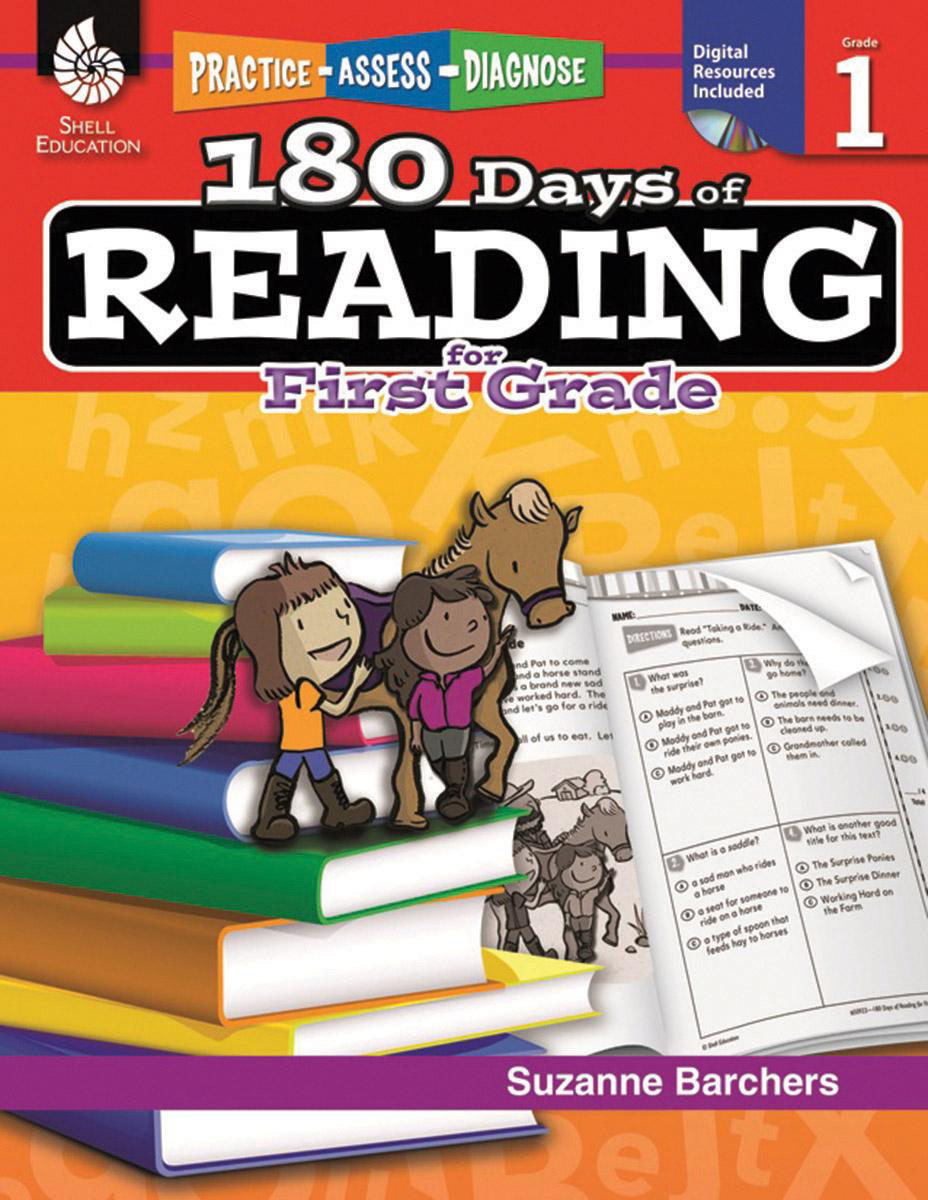 Practice, Assess, Diagnose: 180 Days of Reading, Grade 1