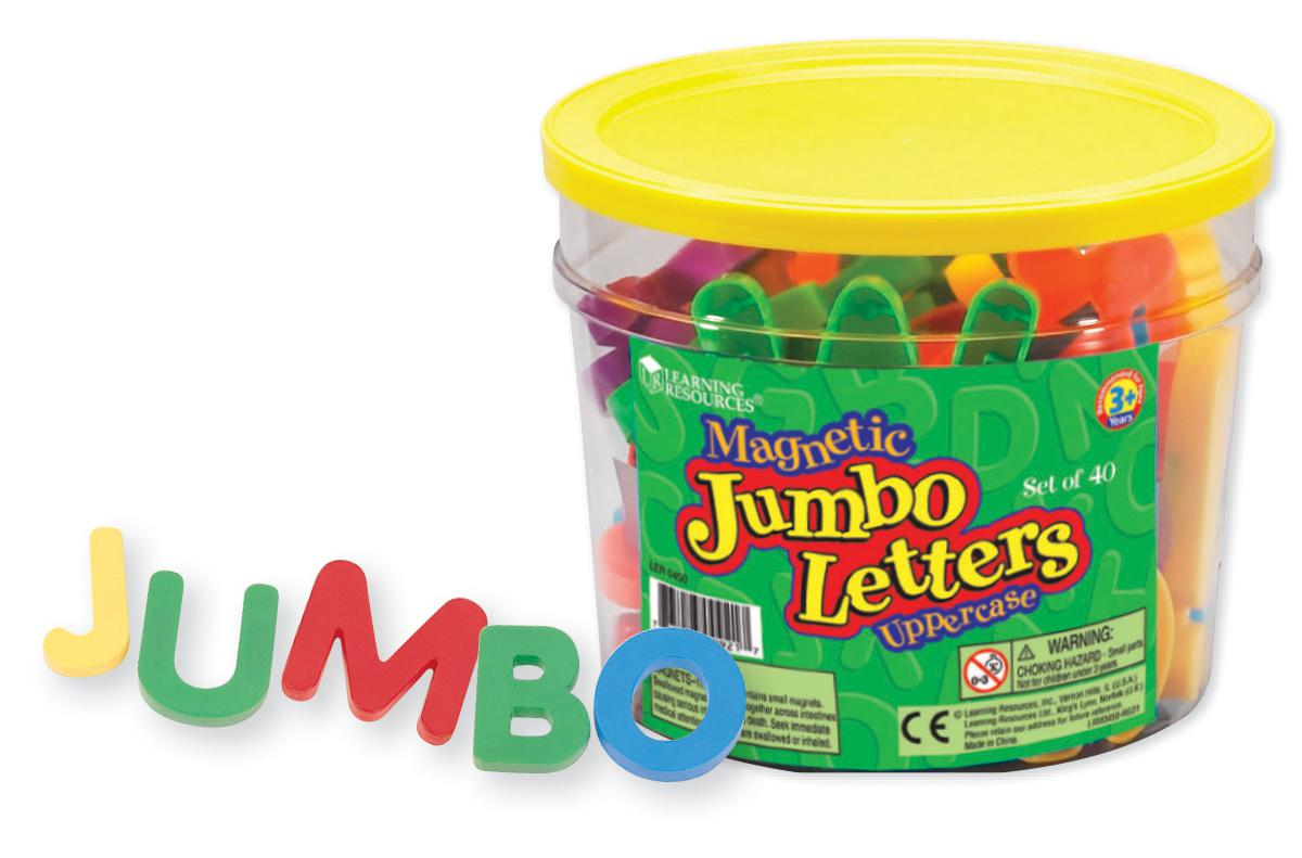 Jumbo Magnetic Letters: Uppercase