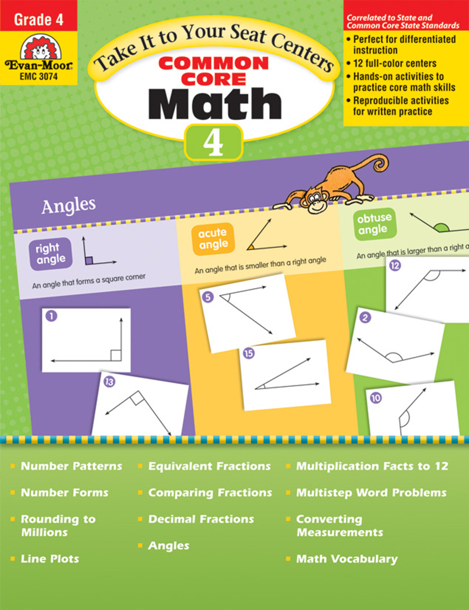 Take It to Your Seat Centers: Common Core Math Grade 4