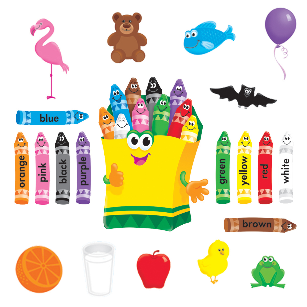 Colourful Crayons Bulletin Board Set