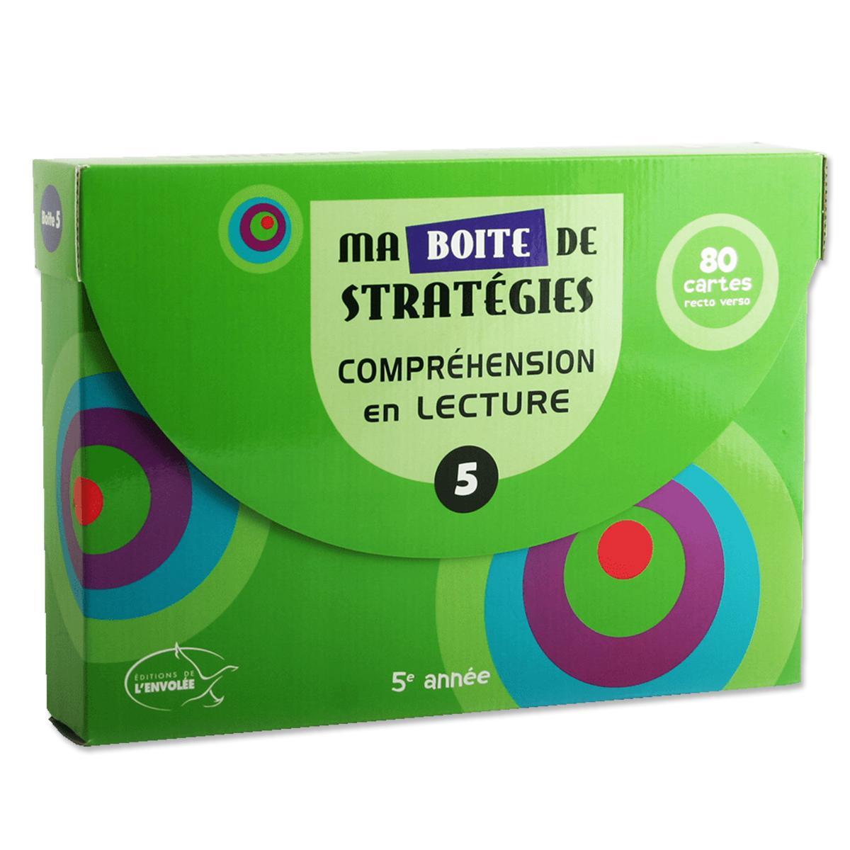 Ma boîte de stratégies : Compréhension en lecture 5