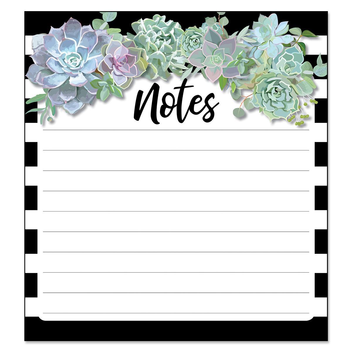 Succulents Notepad
