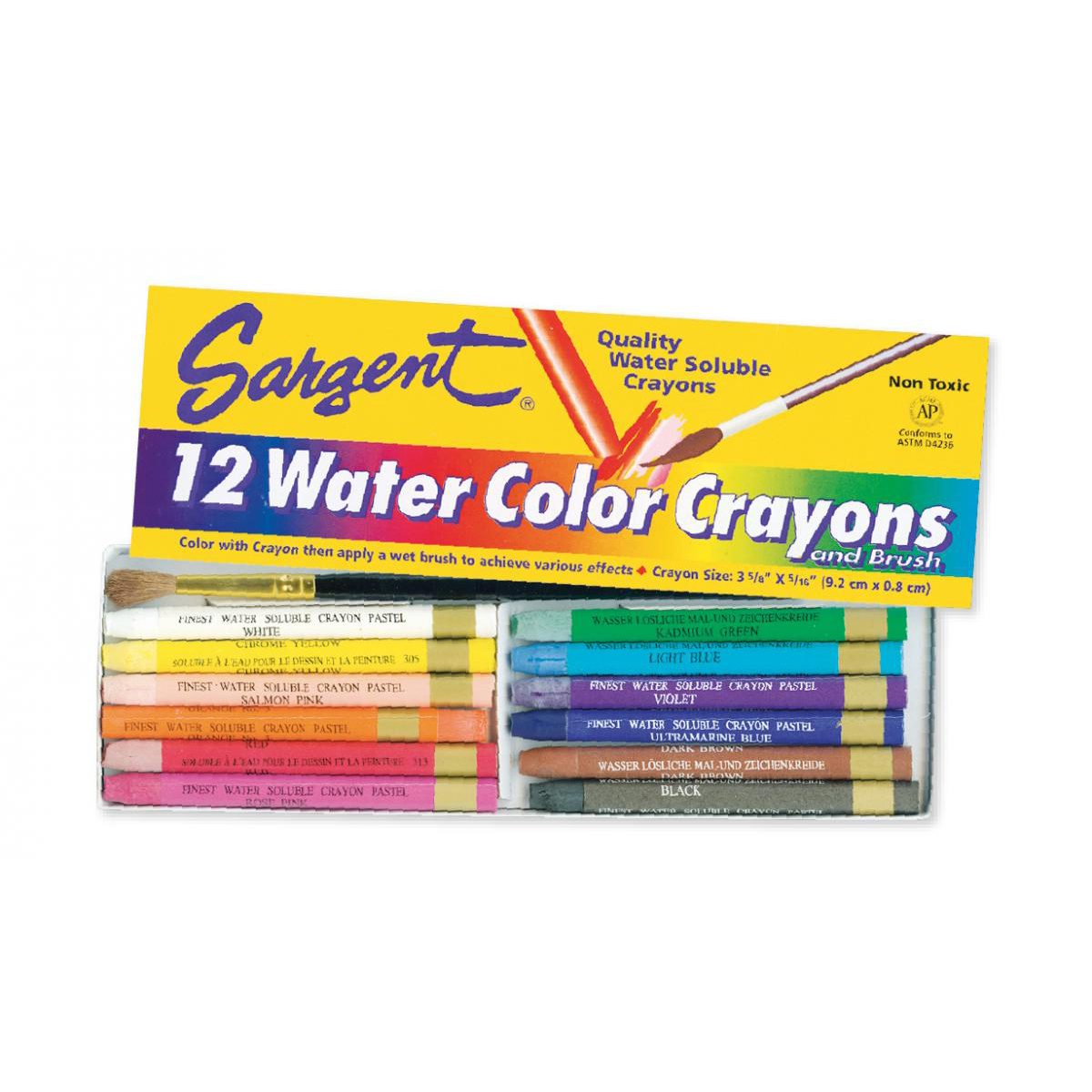 Sargent Art® Water Color Crayons Set