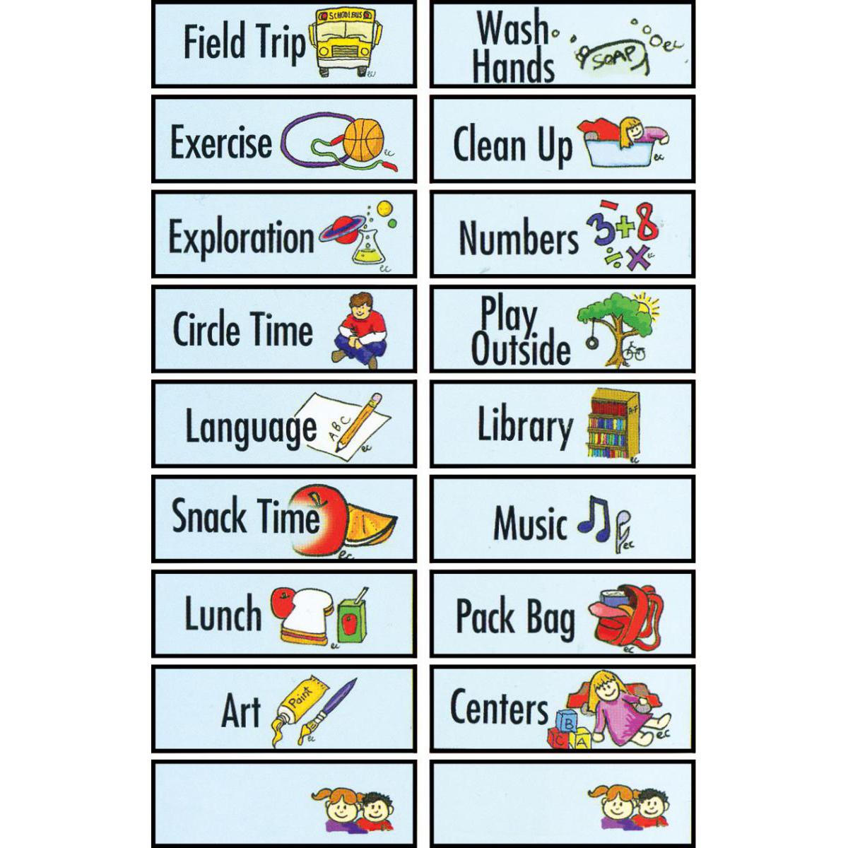 Magnetic Classroom Schedule Gr. PreK-K