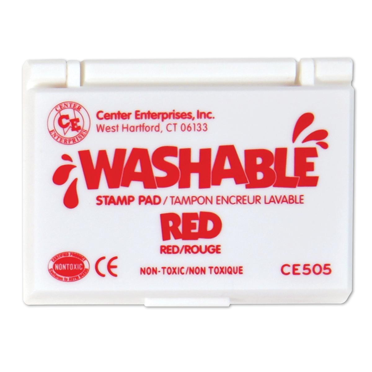 Tampon encreur lavable : rouge
