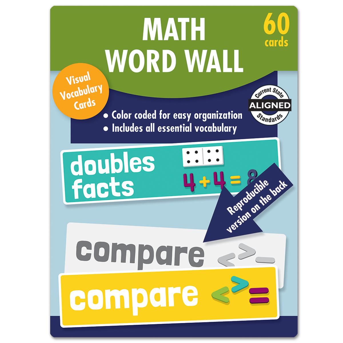 Math Word Wall Learning Cards: Grade 1
