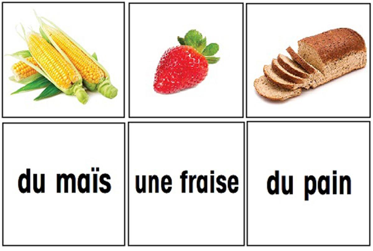 French Flashcards: Food