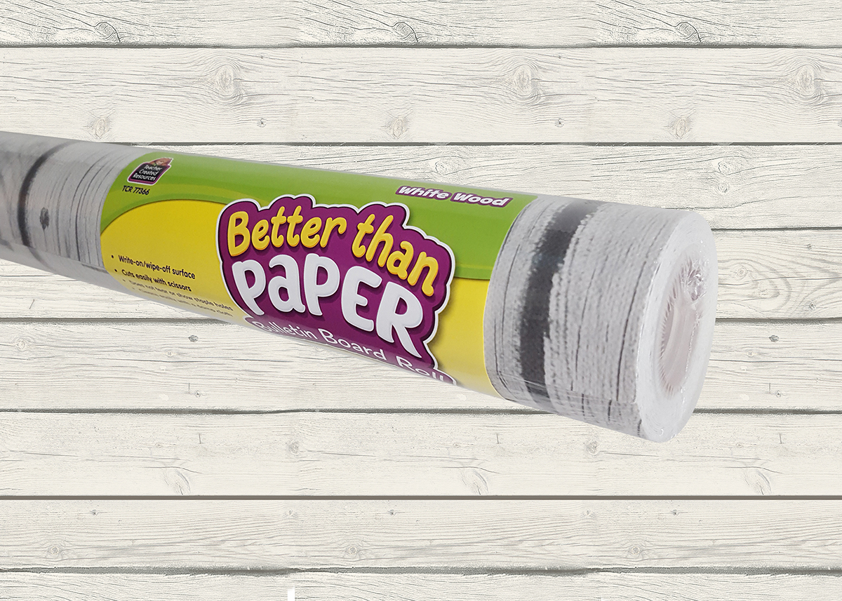 Better Than Paper Bulletin Board Roll: White Wood