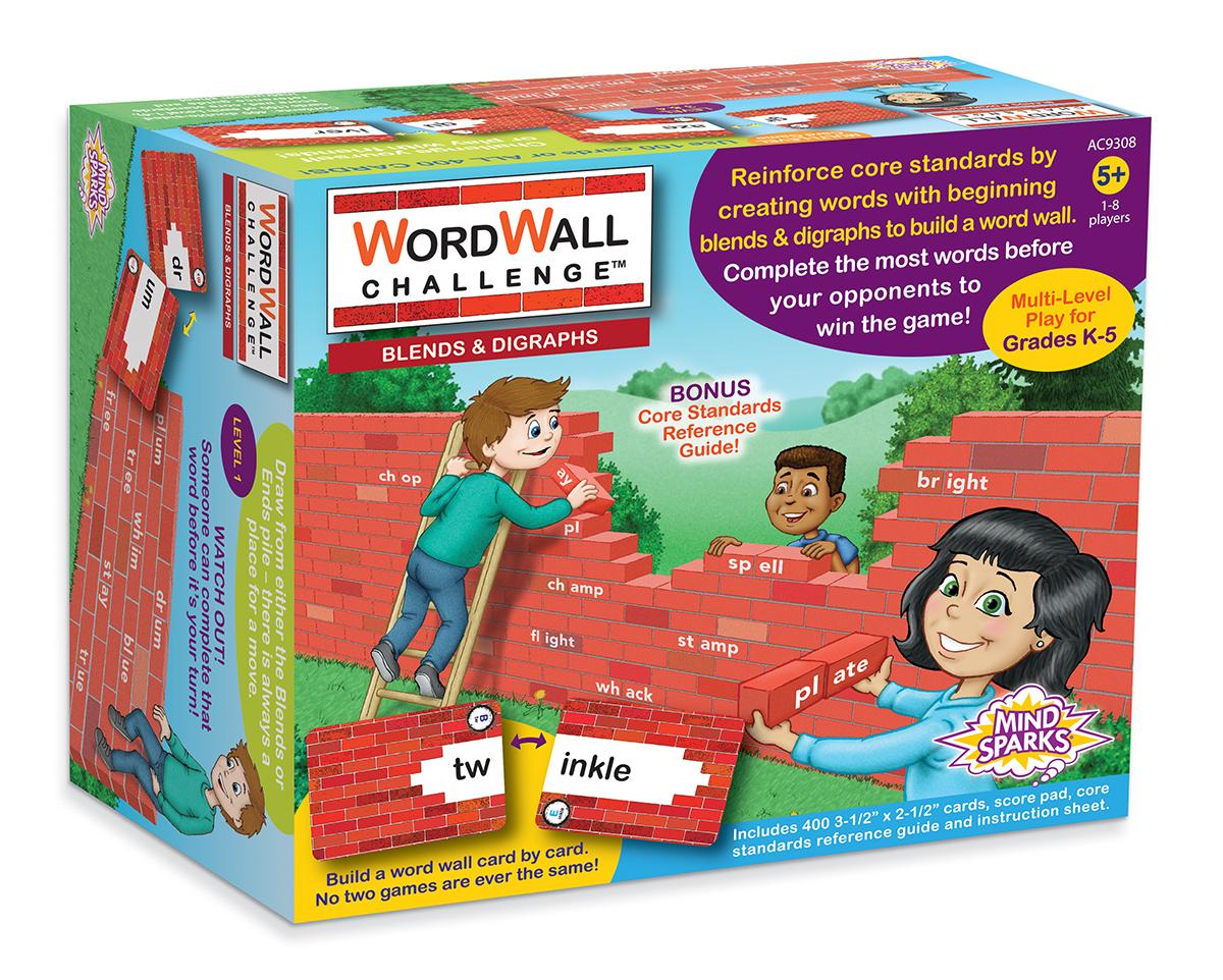Mind Sparks WordWall Challenge Card Game: Blends & Digraphs