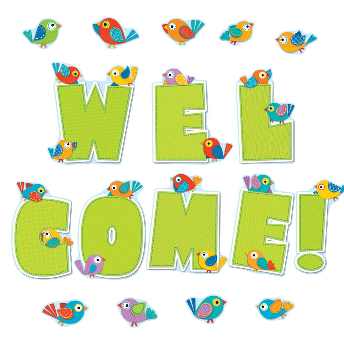 Boho Birds Welcome Bulletin Board Set